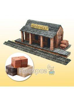 Іграшка-конструктор з міні-цеглинок Залізнична станція Дикий захід 70538