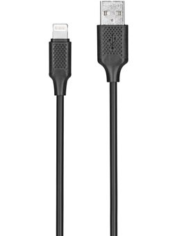 Kit: USB 2.0 to Lightning cable, 2A, black, 1m