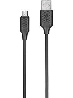Kit: USB 2.0 to Micro USB cable, 2A, black, 1m