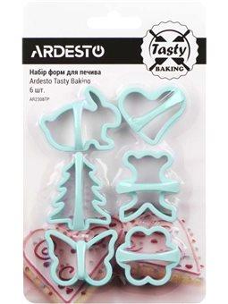 Набор форм для печенья Ardesto Tasty baking, 6 шт, синий тифани, пластик [AR2308TP]
