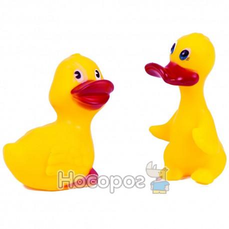 Резиновая игрушка 133 В7 (2 уточки, пищалки) (216)