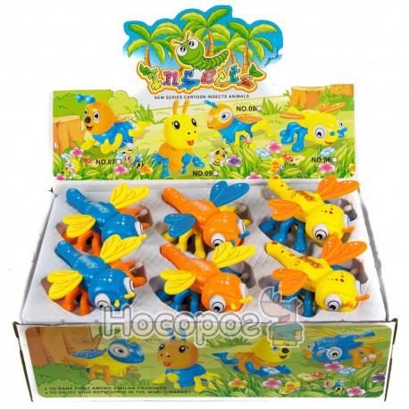 Игрушка заводная 06 Стрекоза (3 цвета, 6 шт в коробке) (48)