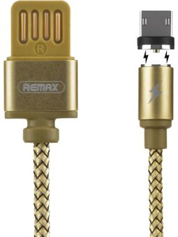 Remax Gravity series Magnetic cable MicroUSB Data / Charge [RC-095M-GOLD]
