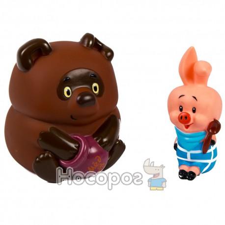 Резиновая игрушка 3381(1101624) Винни Пух и Пятачок (пищат) (48)
