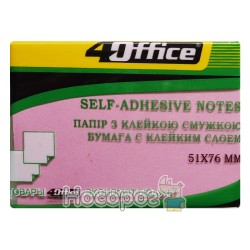 Бумага для заметок 4Office 4-421 клееный 100л 02041453