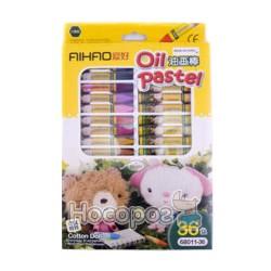 Олівці воскові AIHAO 68011-36