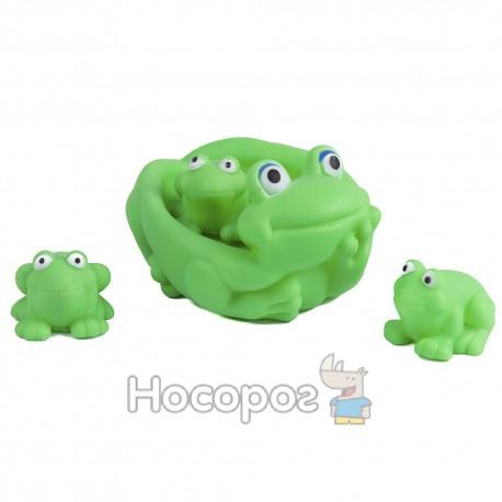 Резиновая игрушка 0140 Лягушка с лягушонками, пикает, 14*10 см (240)