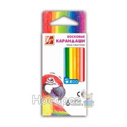 Карандаши восковые Луч 6 цветов мини