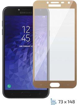 2E Захисне скло для Galaxy J4 2018 (2.5D FG) [Gold border]