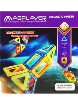 MagPlayer Конструктор магнитный 20 ед. (MPA-20)