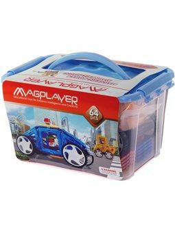 MagPlayer Конструктор магнитный 64 ед. (MPT-64)