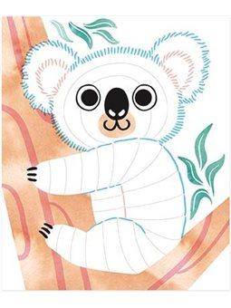 Janod Набор для творчества - Раскраски Животные