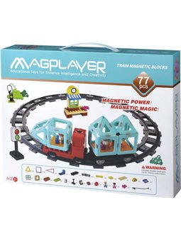 MagPlayer Конструктор Поезд 77 эл. (MPH2-77)