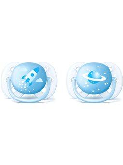 Avent ортодонтическая для мальчиков Ultra Soft 2 шт 0+