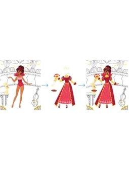 Janod Блокнот модные наряды - Принцессы