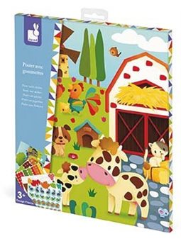 Janod Набор для творчества - Постер с наклейками Ферма