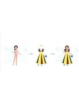 Janod Блокнот модные наряды - Вокруг света