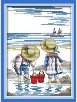 """Вышивка крестиком - """"Дети на море 2"""" [K209]"""