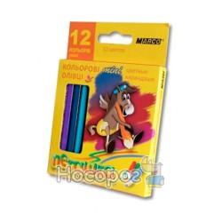 Карандаши цветные Marco 1010H-12CB Пегашка мини