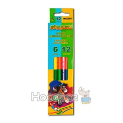 Карандаши цветные Marco 1011- 6CB двусторонние Пегашка