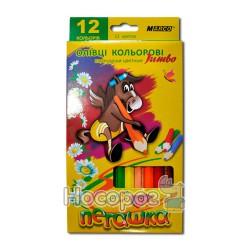 Карандаши цветные Marco 1040-12 толстые Пегашка