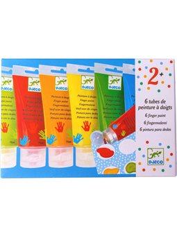 DJECO Набор Пальчиковые краски, 6 цветов [DJ08860]