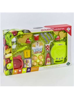 Вафельница BQ 804 A (12) с продуктами, свет, звук, в коробке [72543]