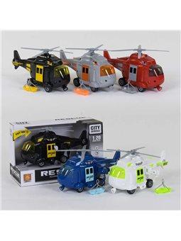Вертолёт спасательный WY 760 А/В/С/D/Е (48) 5 видов, свет, звук, в коробке [77591]