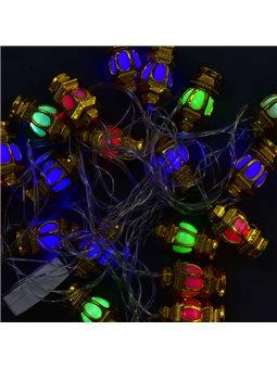 Гирлянда светодиодная С 31302 (100) 20 лампочек, 5 метров, мультиколор [70400]