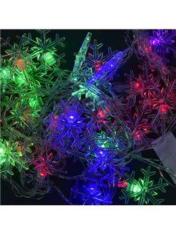 """Гирлянда светодиодная С 23458 """"Снежинка"""" (100) длина 4,5 метров, 28 ламп., цветная [61325]"""