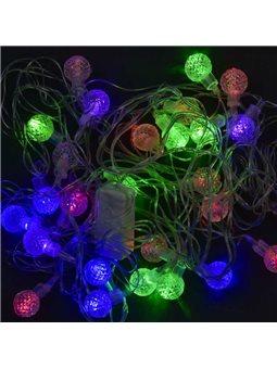 Гирлянда светодиодная Шарики С 31299 (100) 28 лампочек, 5 метров, мультиколор [70397]