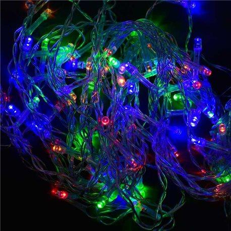 Фото Гирлянда-штора светодиодная С 31311 (100) 100 лампочек, длина провода 3 метра, ветки: 40, 50, 68 см, мультиколор [70409]