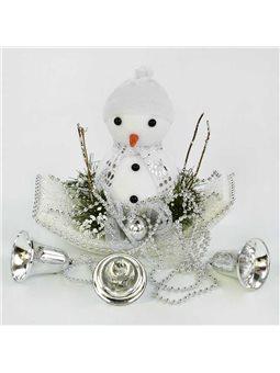 Декоративная новогодняя композиция C 30560 (80) Снеговик [70066]
