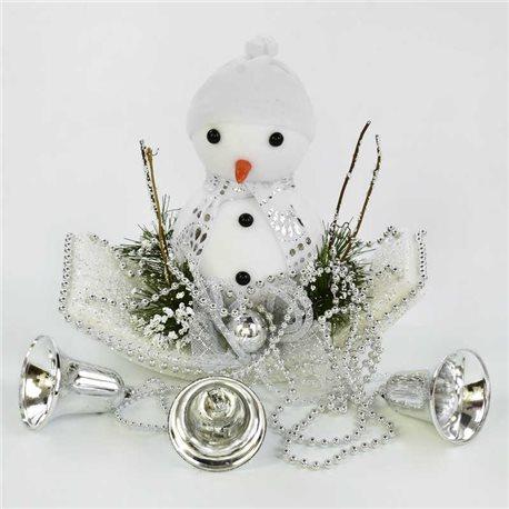 Фото Декоративная новогодняя композиция C 30560 (80) Снеговик [70066]