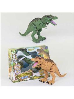 Динозавр 1013 А (24/2) 2 вида, с проектором, ходит, светятся глаза, звук, в коробке [73392]