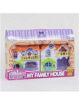 Домик кукольный 8203-3 (24/2) свет, звук, 4 игровые фигурки, в коробке [81333]