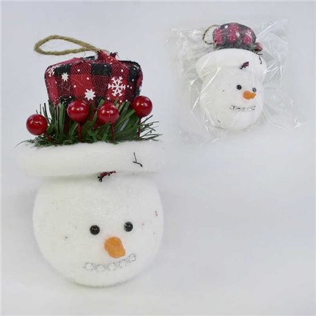 Фото Ёлочная игрушка С 31043 (300) Снеговик, 11см, в кульке [71658]