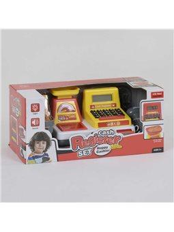 Кассовый аппарат 35533 В (24/2) световые и звуковые эффекты, сканер, корзинка с продуктами, в коробке [81291]