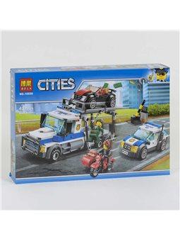"""Конструктор Bela Cities 10658 (18) """"Ограбление трейлера автовоза"""" 427 деталей, в коробке [81961]"""