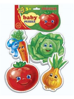 "гр Мягкие беби пазлы ""Овощи"" ИЛ 207 - VT 1106-03 (50) ""Vladi Toys"" [13465]"