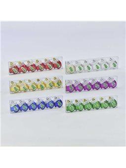 Ёлочная игрушка С 30882 Рукавичка (180) 6см, 6 цветов, 6шт в наборе [70601]
