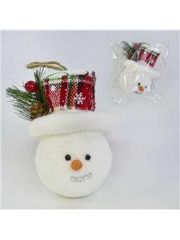 Ёлочная игрушка С 31041 (300) Снеговик, 11см, в кульке [71656]