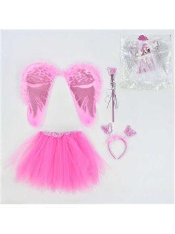 Карнавальный набор для девочки Ангел C 31244 (100) 4 предмета: юбка, крылья, жезл, ободок [70074]