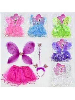 Карнавальный набор для девочки Бабочка C 31247 (100) 4 предмета: юбка, крылья, жезл, ободок [70077]