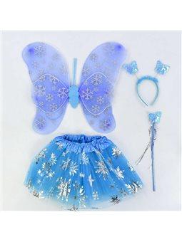 Карнавальный набор для девочки Бабочка C 31262 (100) 4 предмета: юбка, крылья, жезл, ободок [70107]