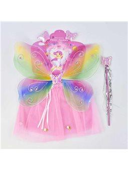 Карнавальный набор для девочки С 31251 Фея (100) 4 предмета: юбка, крылья, жезл, ободок [70713]