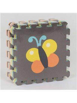 """Коврик-пазл EVA """"Насекомые"""" НК 038 (24) TK Group, массажный, 9шт в упаковке, 30х30 см [80251]"""