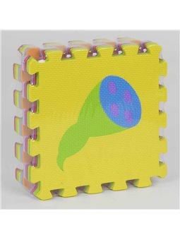 """Коврик-пазл EVA """"Овощи"""" НКС 009 (24) массажный , 9шт в упаковке, 30х30см [80011]"""