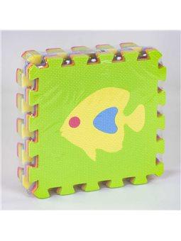 Коврик-пазл EVA С 36602 Рыбки (24) массажный, 9 эл. в упаковке, 30х30см [79779]