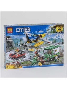 """Конструктор 10864 (24) Bela Cities """"Ограбление у горной реки"""", 409 деталей, в коробке [74340]"""